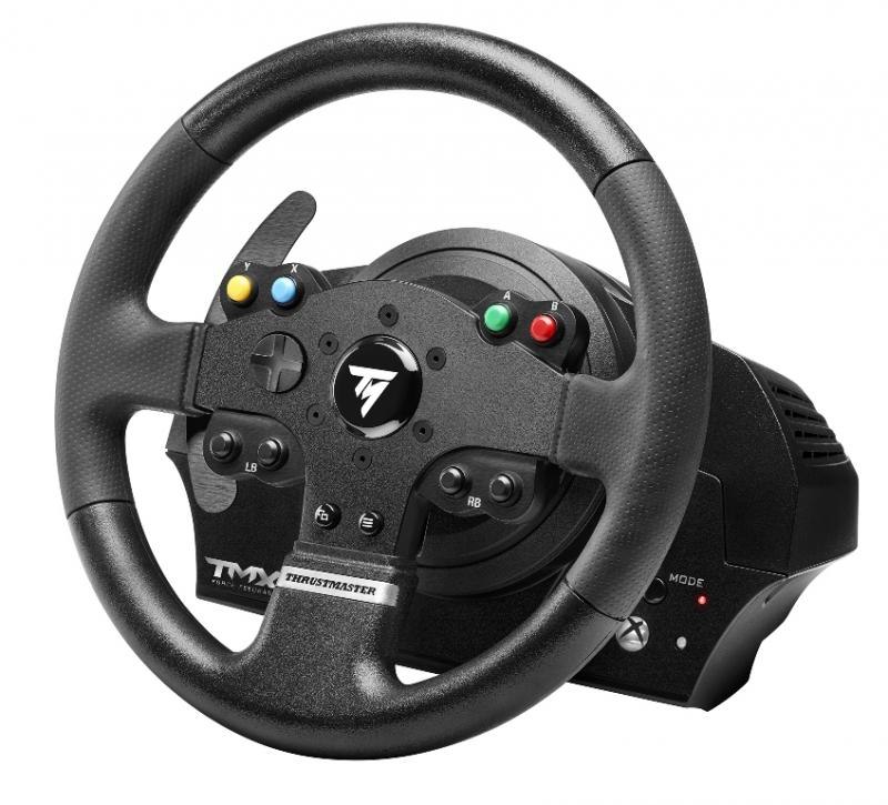volant thrustmaster tmx force feedback pc xbox one page 1 gamalive. Black Bedroom Furniture Sets. Home Design Ideas