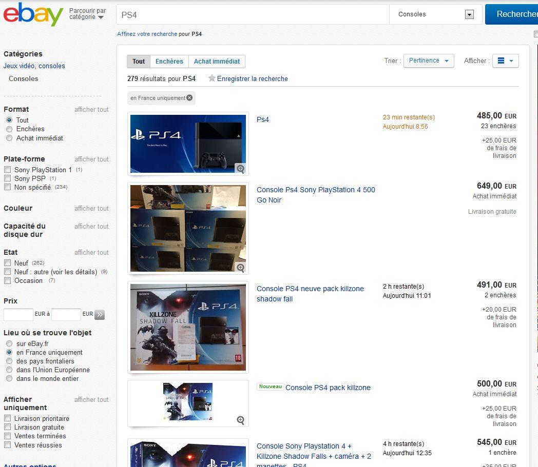 ps4 les ventes aux ench res font un bide page 1 gamalive. Black Bedroom Furniture Sets. Home Design Ideas