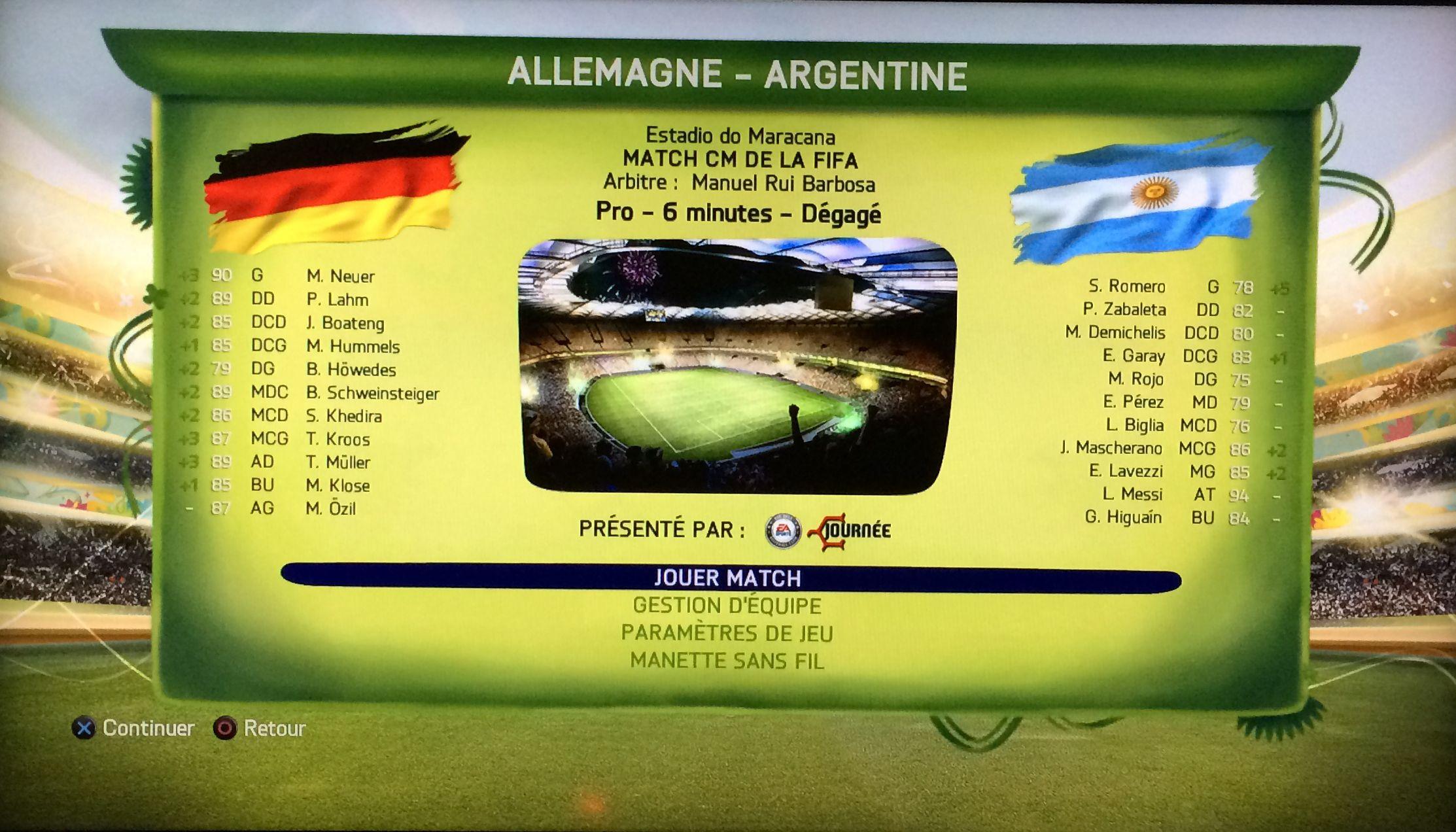 Finale de la coupe du monde 2014 allemagne argentine le - Jeu de coupe du monde 2014 ...