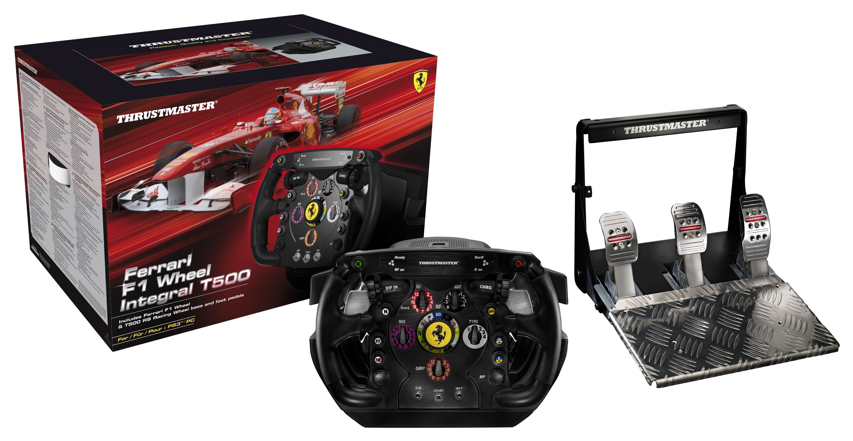 un nouveau volant ferrari thrustmaster pour pc et ps3. Black Bedroom Furniture Sets. Home Design Ideas
