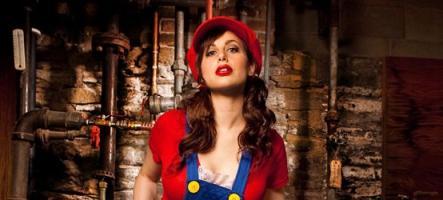 L'instant Sexy : Une pin-up déguisée en Mario