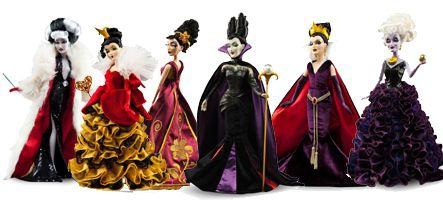 (HS) Les méchantes de Disney dans une collection limitée de sublimes poupées
