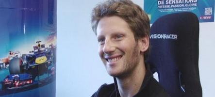 Romain Grosjean (Lotus F1) révise les circuits sur sa Xbox