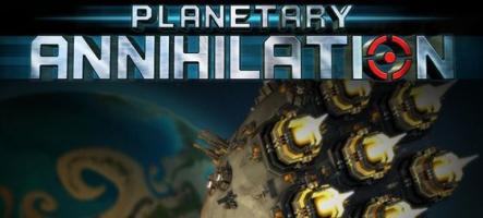 Planetary Annihilation : Un jeu de stratégie dans une galaxie entière !