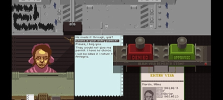 Le jeu de la semaine : Papers, Please