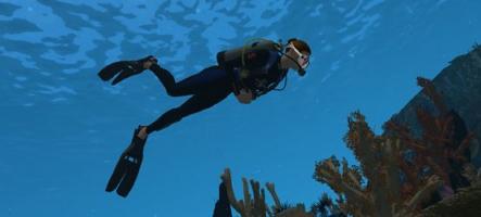 Une simulation de plongée sous-marine...