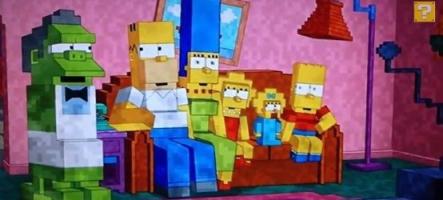 Les Simpsons se la jouent MineCraft