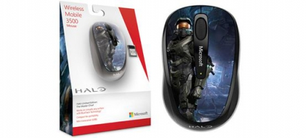 Microsoft sort la souris wireless mobile 3500 Halo Limited Edition
