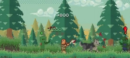 Forest Warrior : Une forêt, un guerrier, un pixel