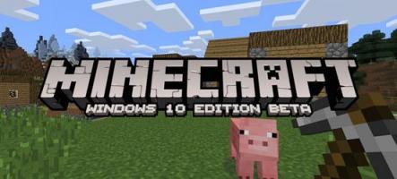MineCraft : L'édition Windows 10 en bêta dès la fin du mois