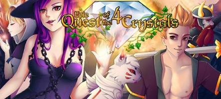 Epic Quest of the 4 Crystals, un p'tit jeu de rôle pour bien débuter la semaine ?