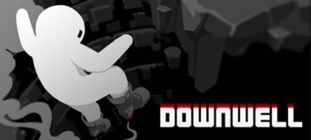 L'enfer de Downwell, un jeu de plateformes en rouge et noir