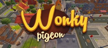 Wonky Pigeon! : chiez sur les passants !