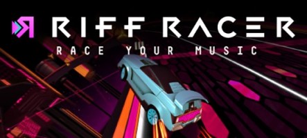 Riff Racer - Race Your Music! comme son nom l'indique