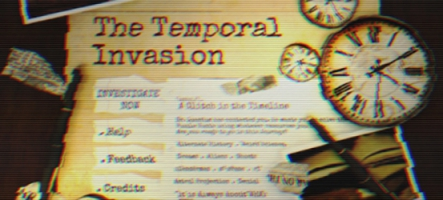 The Temporal Invasion, un jeu d'aventure inspiré de X-Files