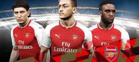 PES 2018 s'offre un partenariat avec Arsenal