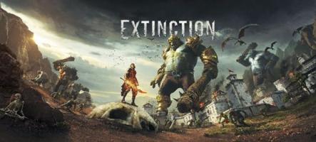 Extinction : un jeu d'action face à des trolls géants