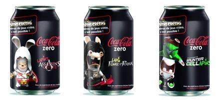 Les canettes Coca Cola Zéro se mettent aux Lapins Crétins