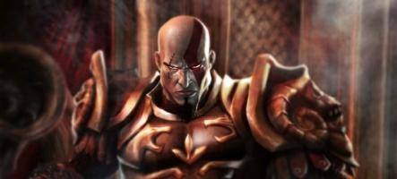 God of War Ghost of Sparta : Kratos met des beignes et donne des coups de pieds aux chiens