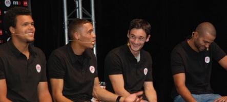 Tony Parker, Guillaume Hoarau, Hugo Lloris et Jo-Wilfried Tsonga pour EA Sports.