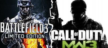 Battlefield 3 vs Call of Duty Modern Warfare  3 : Lequel choisir ?