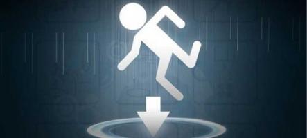 Tombez dans le panneau de Portal 2